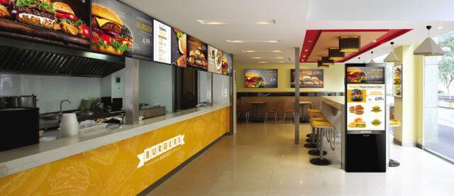 MagicInfo: Restaurantes fast food (QSR)